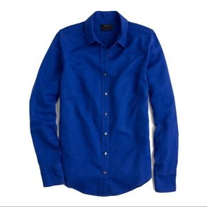 J.Crew perfect shirt in bistro blue, sz 12